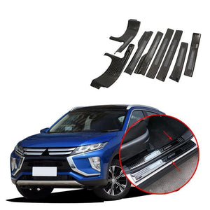 NINTE Door Sill Threshold Scuff Plates Cover Trim For Mitsubishi Eclipse Cross 2017-2019 - NINTE