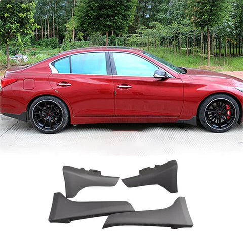NINTE Front & Rear Splash Guards For 2014-2017 Infiniti Q50 & Q50 Sport | OE Style Unpainted ABS Mudflaps - NINTE
