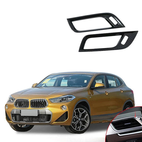 NINTE 2pcs Accessories ABS Side Air-Conditioning Vent Cover Trim For BMW X2 2018 - NINTE