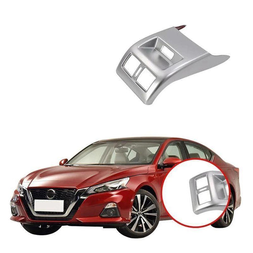 NINTE Interior Rear Armrest Box A/C Air Outlet Vent Frame Cover Trim Car Styling Accessories For Nissan Altima 2019 - NINTE