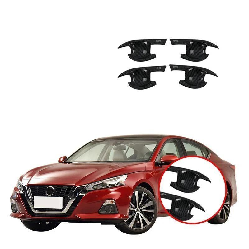 Nissan Altima 2019 ABS Carbon Fiber Outside Door Bowl frame moulding - NINTE