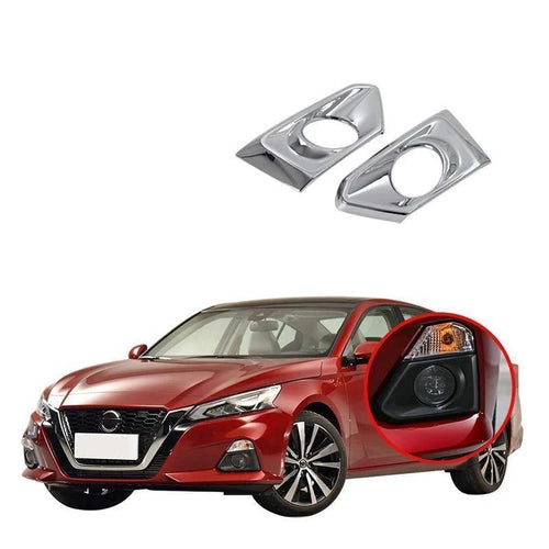 NINTE ABS Chrome Sticker Car Accessories Front Fog Light Cover Head FogLight Lamp Frame Sequin Panel Trims For Nissan ALTIMA 2019 - NINTE