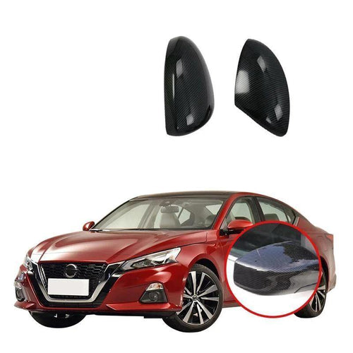 NINTE Rear View Mirror Cover Rear View Frame Sequin Panel Trims ABS Stickers Car-Styling Accessories For Nissan ALTIMA 2019 - NINTE