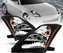 Load image into Gallery viewer, For 2003 2004 2005 Nissan 350Z Coupe Z33 Fairlady Black Projector Headlights Set - NINTE