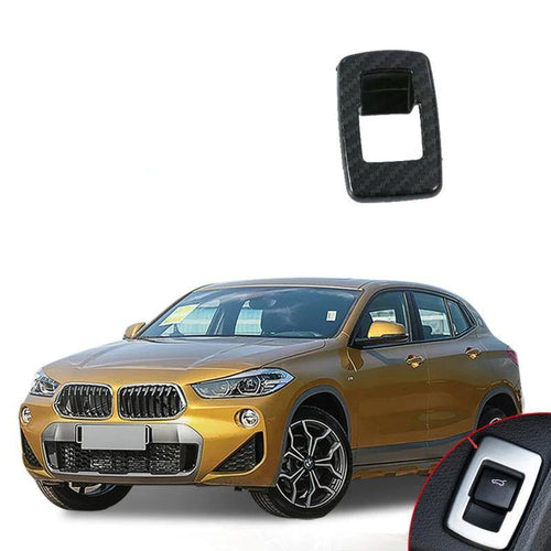 NINTE ABS Car Accessory Interior Tail Door Swtich Frame Button Cover For BMW X2 2018 - NINTE