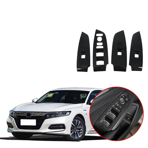 NINTE Car Door Armrest Window Lifter Cover Accessories For Honda Accord 2018-2019 - NINTE
