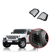 Car Dashboard Side Air Conditioning Vent Outlet Decoration Cover Sticker for Jeep Wrangler JL 2018 2019 NINTE - NINTE