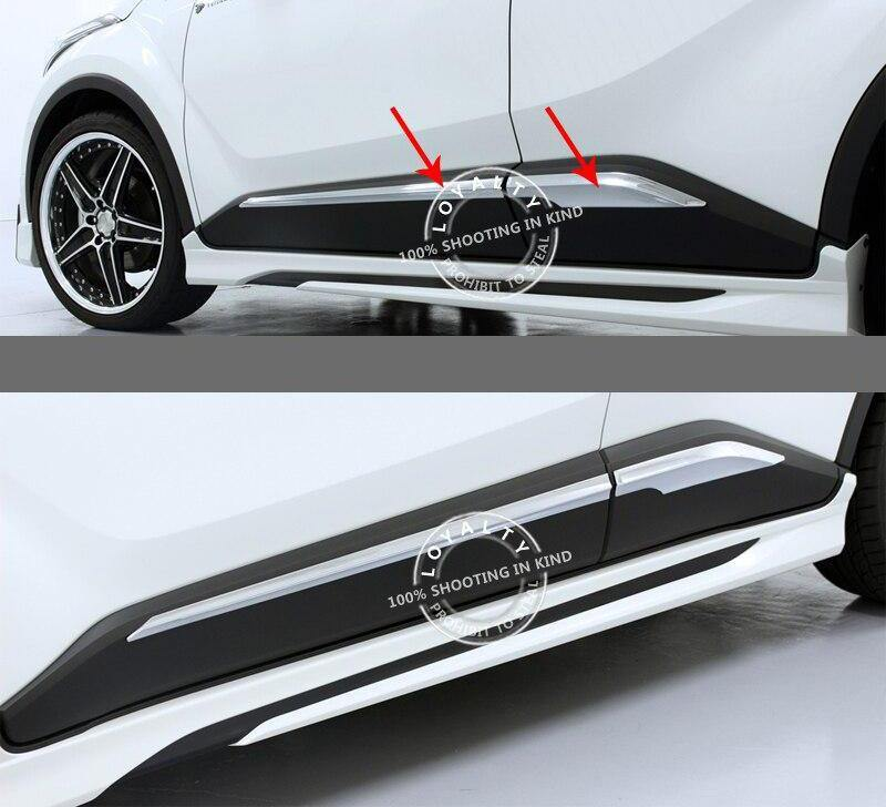 Toyota C-HR 2016-2018 ABS Chrome Door Body Side Trim Cover - NINTE
