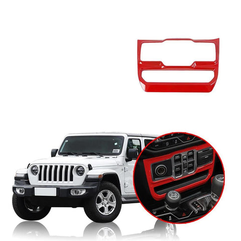 Car Window Button Panel Decoration Cover Stickers for Jeep Wrangler JL 2018 2019 NINTE - NINTE