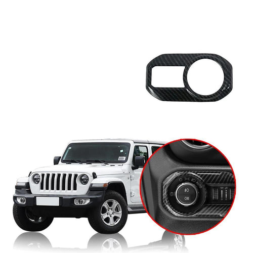 Car Headlight Lamp Switch Button Decoration Cover Stickers for Jeep Wrangler JL 2018 2019 NINTE - NINTE