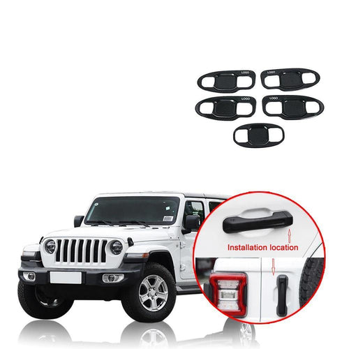 ABS Outer Door Bowl Cover Trim for Jeep Wrangler JL 2018-2019 NINTE - NINTE