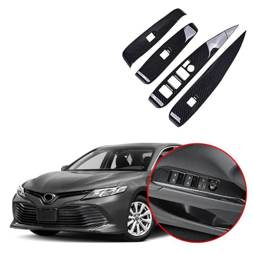 NINTE ABS Door Window Lift Switch Button Cover Trim Panel For Toyota Camry 2018 2019 - NINTE