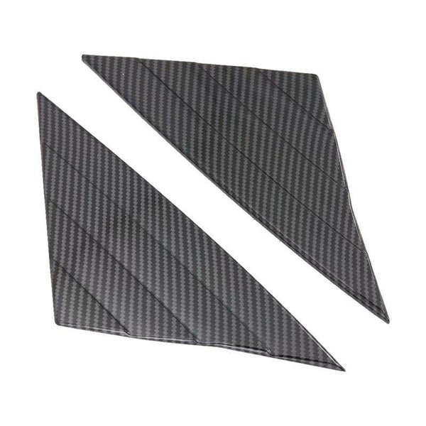 NINTE Carbon Fiber Style ABS Car Accessories Front Window Triangle Cover Trim 2PCS For Tesla Model 3 2017-2019 - NINTE
