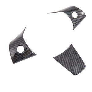 NINTE Carbon Fiber Wheel Steering Panel Cover Trims For Tesla Model 3 2017-2019