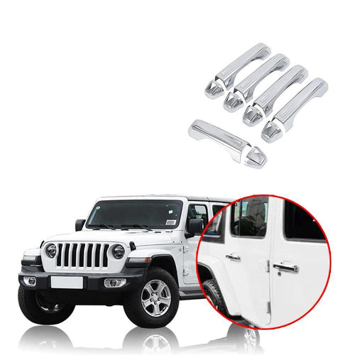 4 Door Handle Covers for Jeep Wrangler JL 2018 2019 NINTE - NINTE