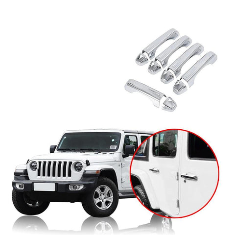 NINTE 4 Door Handle Covers For Jeep Wrangler JL 2018 2019 - NINTE