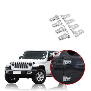 Door Hinge Cover And Engine Hood Hinge Cover Decoration ABS Stickers for Jeep Wrangler JL  2018 2019 NINTE - NINTE