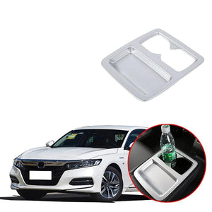 NINTE Car Inner Water Cup Holder Panel Decoration Cover Trim For Honda Accord 10th 2018 2019 - NINTE