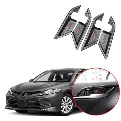 NINTE Inner Door Handle Bowl Cover Trim For Toyota Camry 2018 2019 - NINTE