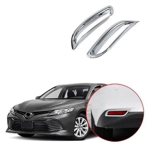 NINTE ABS Chrome Rear Fog Lamp Guard Trim For Toyota Camry 2018 2020 - NINTE