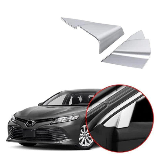NINTE Window Triangle Frame A Pillar Cover Trim For Toyota Camry 2018-2019