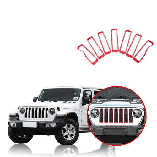 Car Front Insert Grille Cover Decoration for Jeep Wrangler JL 2018 2019 NINTE - NINTE