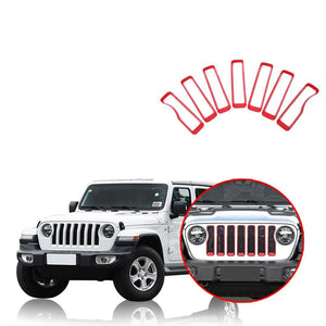 NINTE Car Front Insert Grille Cover Decoration For Jeep Wrangler JL 2018 2019 - NINTE