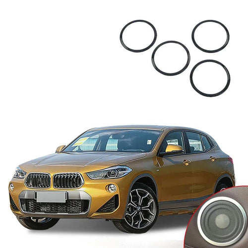 NINTE 4pcs/set ABS Door Speaker Ring Trim Sticker Interior Accessory For Bmw X2 2018 - NINTE