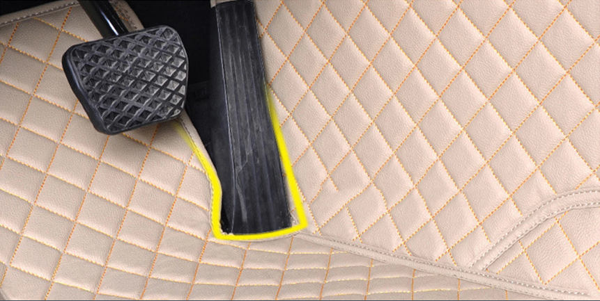 NINTE Ford Fusion 2013-2018 Custom 3D Covered Leather Carpet Floor Mats - NINTE