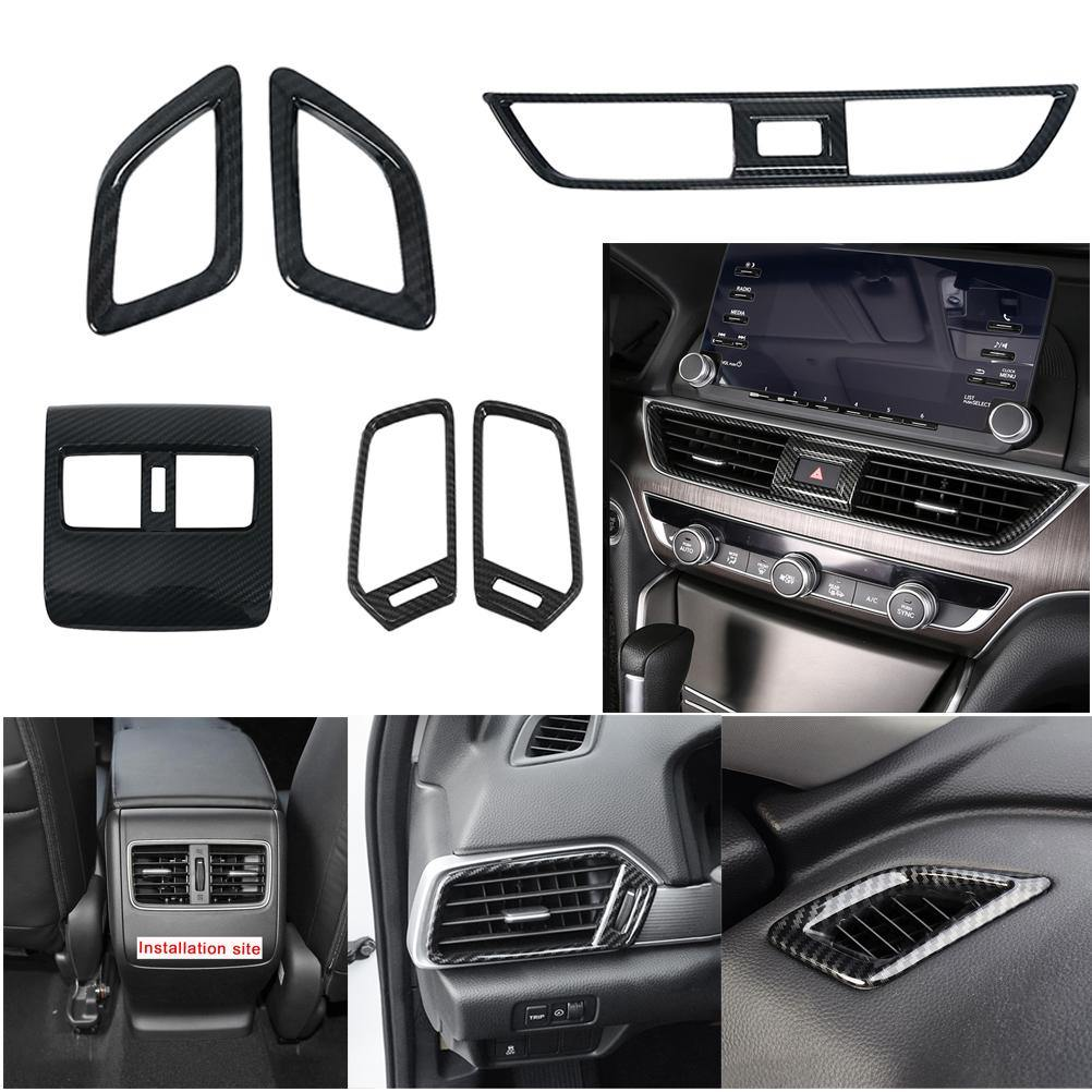 NINTE Honda Accord 10th 2018-2019 Interior Front Rear Console Dashboard Left and Right A/C Vent Frame Cover - NINTE