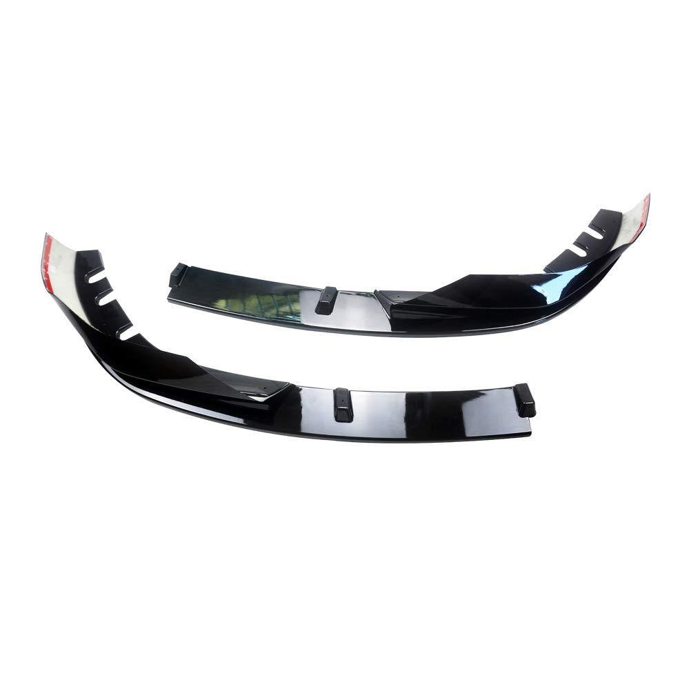 NINTE BMW G20 G28 3-Series M Sport 2019-2020 2 PCS ABS Painted Gloss Black Alpina Style Front Bumper Lip - NINTE