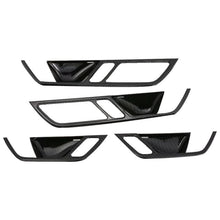 NINTE 4PCS Carbon Fiber Inner Door Handle Panel Cover Trim For Audi A6L 2019 - NINTE