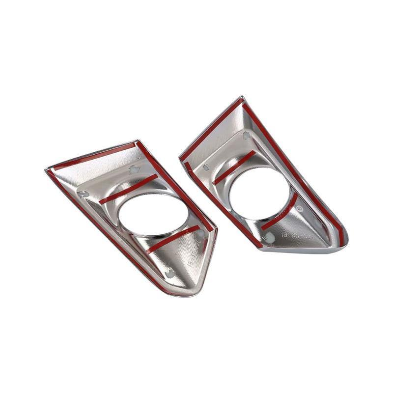 Ninte Nissan Altima 2019 ABS Chrome Sticker Front Fog Light Cover Head Lamp Frame Sequin Panel - NINTE