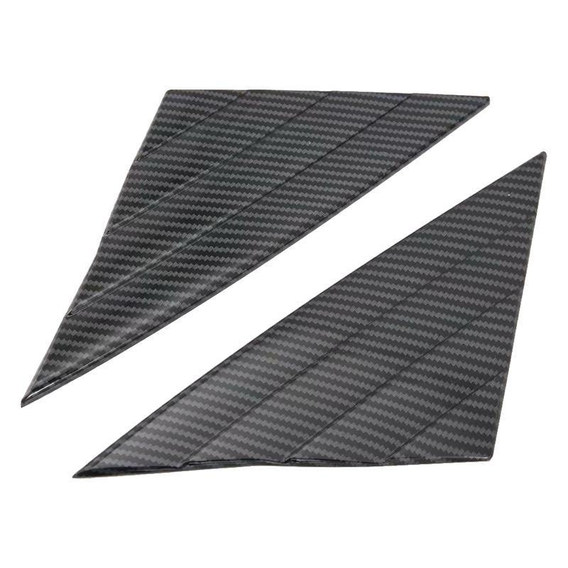 Ninte Tesla Model 3 2017-2019 Carbon Fiber Style 2 PCS ABS Front Window Triangle Cover - NINTE