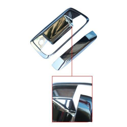 NINTE 2014-2017 Sierra& 2014-2018 Colorado& 2015-2018 Canyon Chrome Tail Gate Door Handle Covers - NINTE