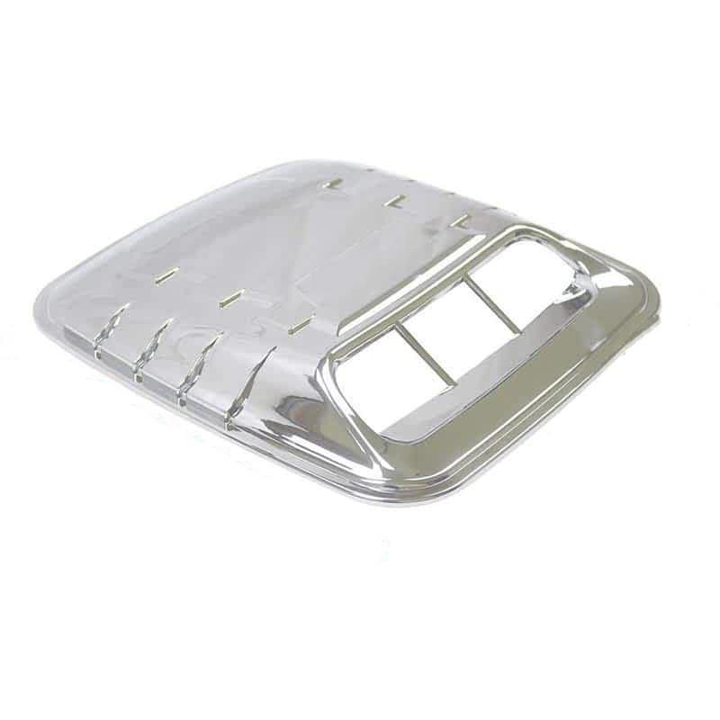 NINTE Universal 3D Chrome ABS Vents Decorative Air Flow Intake Hood Scoops Ventilation Cover - NINTE