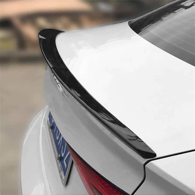 NINTE Audi A3 S3 RS3 Sedan 2013-2019 ABS Carbon Fiber Coating Trunk Spoiler Lip - NINTE