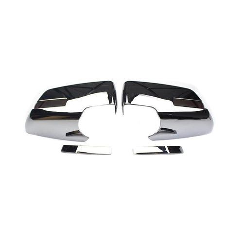 NINTE Chrome Mirror Covers For 07-10 Saturn Outlook | 09-16 GMC Acadia | 17 Acadia Denali | 09-17 Chevy Traverse - W/Turn Signal - NINTE