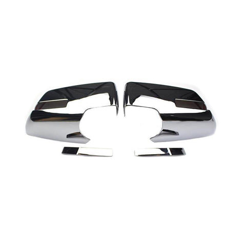 NINTE Chrome Mirror Covers For 07-10 Saturn Outlook | 09-16 GMC Acadia | 17 Acadia Denali | 09-17 Chevy Traverse - With Turn Signal - NINTE