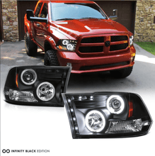 Load image into Gallery viewer, 09-18 Dodge RAM 1500 2500 3500 CCFL Halo Angel Eye LED Projector - NINTE