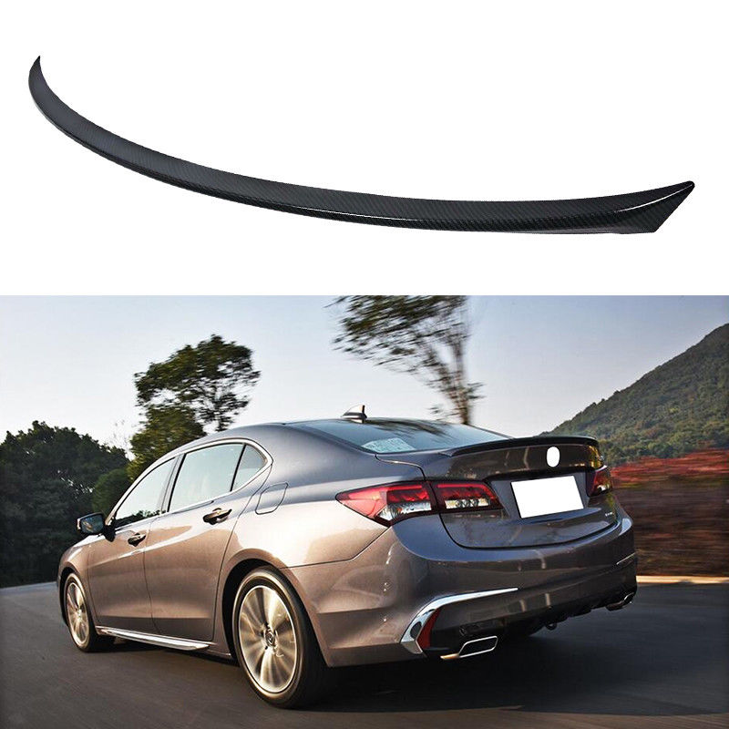 NINTE For 2015-2019 Acura TLX ABS Carbon Fiber Style Trunk Spoiler Lip  Rear Wing Trim - NINTE