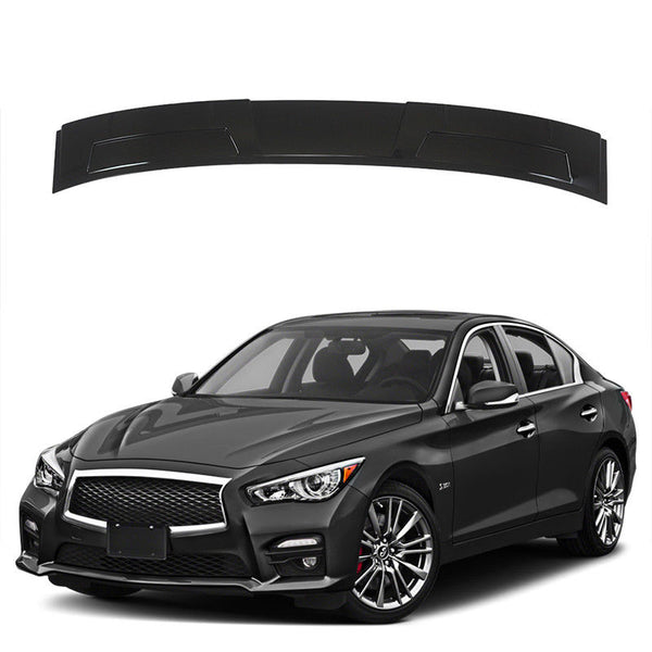 NINTE M Style Rear Window Roof Top Spoiler Wing For 2014-2018 infiniti Q50 Gloss Black PP - NINTE