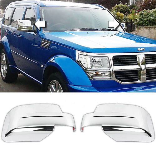 For 2007-2017 JEEP Patriot & 2006-2012 DODGE NITRO Mirror Cover Chrome - NINTE