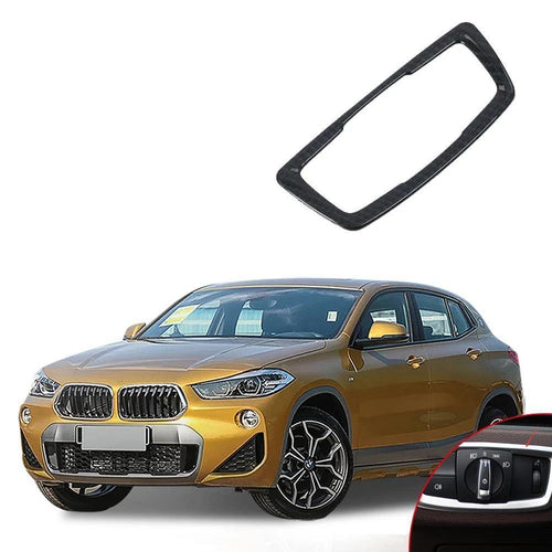 NINTE ABS Car Accessory Head light Headlight Switch Button Cover Trim For Bmw X2 2018 - NINTE