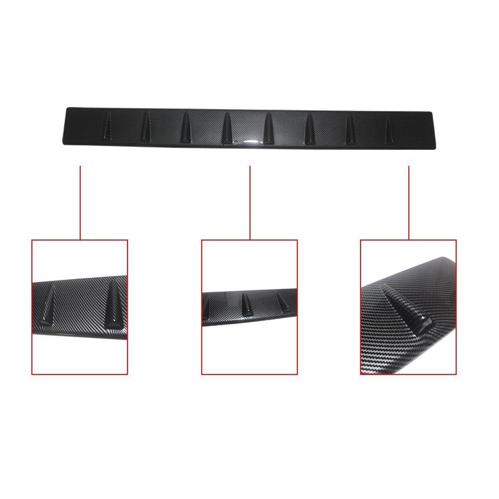NINTE For Dodge Charger 2011-2019 Carbon Fiber Roof Spoiler V Style Generator Shark Fin - NINTE