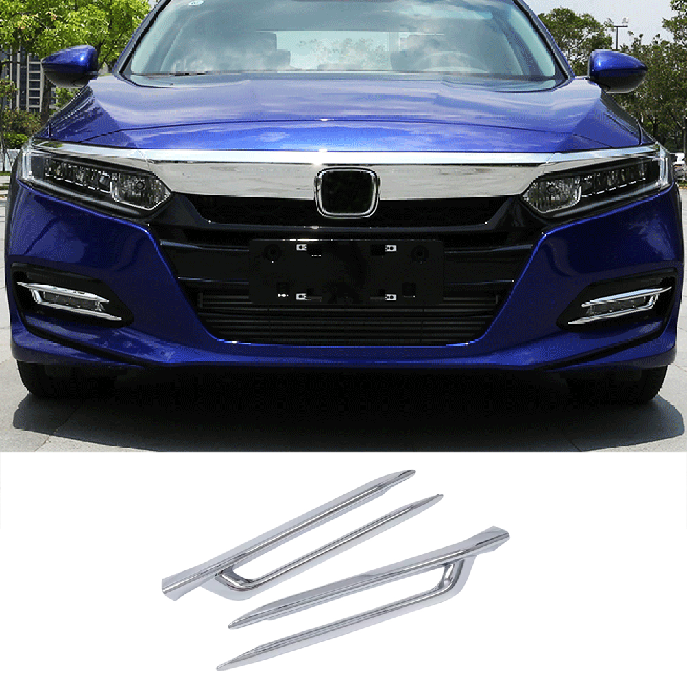 NINTE Honda Accord 2018-2019 ABS Chrome Front Fog Lamp light Cover - NINTE