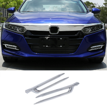 Laden Sie das Bild in den Galerie-Viewer, NINTE Honda Accord 2018-2019 ABS Chrome Front Fog Lamp light Cover - NINTE
