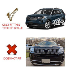 Load image into Gallery viewer, Ninte Ford Explorer 2018-2019 Gloss Black Snap On Hood Front Grille Cover - NINTE