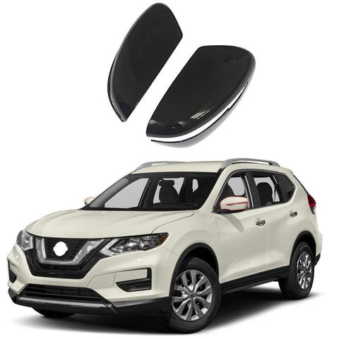 NINTE Mirror Cover for 14-19 Nissan Rogue / 15-17 Juke / 15-19 Murano / 17-19 Pathfinder - ABS Painted Gloss Black Full Mirror Covers - NINTE