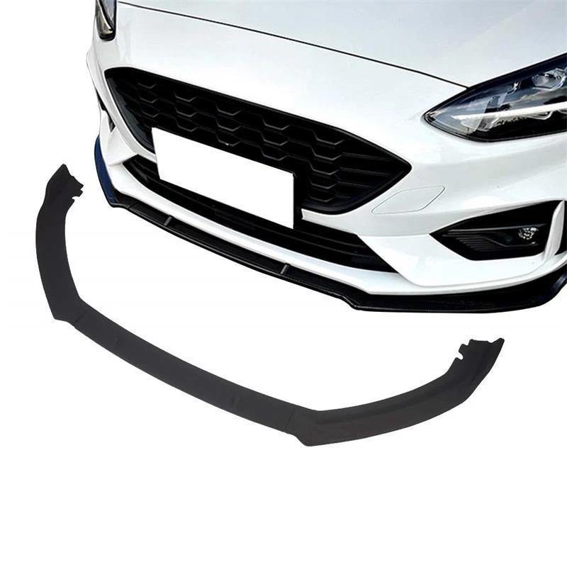 NINTE Front Bumper Lip for 2019 Ford Focus ST-Line - ABS Matt Black Front Bumper Spoiler - Unpainted 3pcs